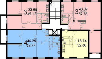 Хюдлед: планы бти квартир домов серии ii-49.